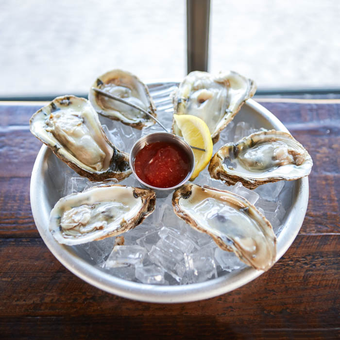 Raw oysters for national oyster day
