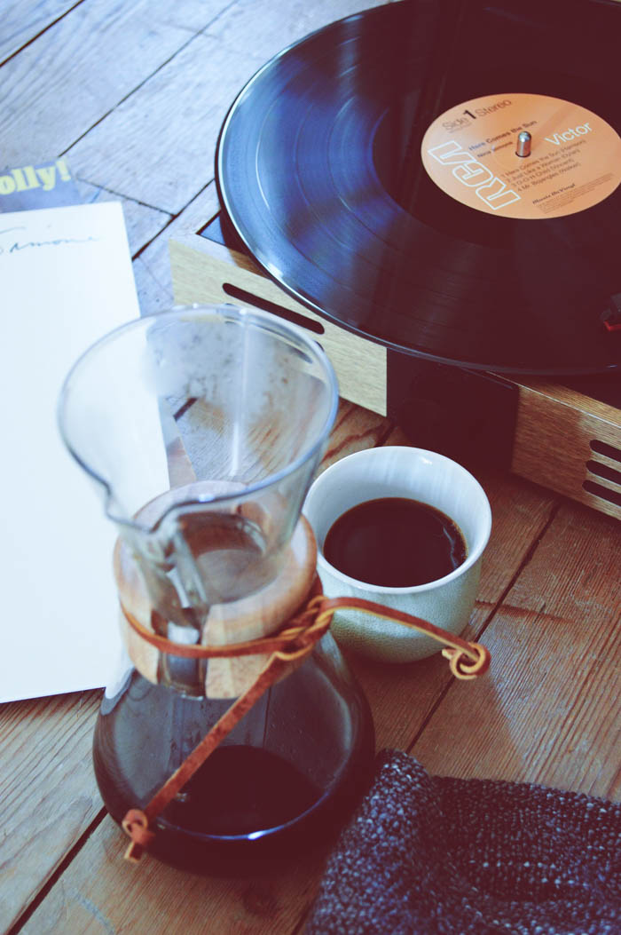 records and coffee