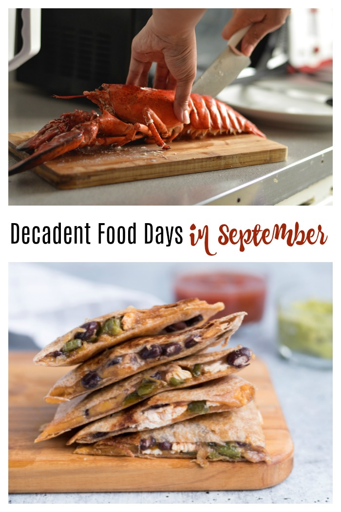 Decadent food days in September