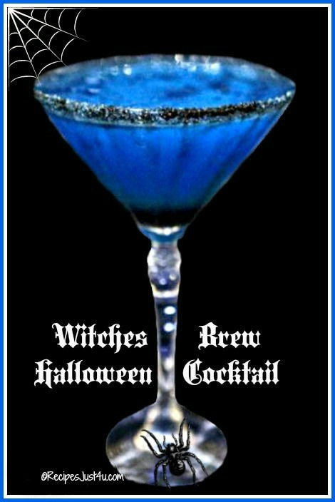 Witches brew blue cocktail