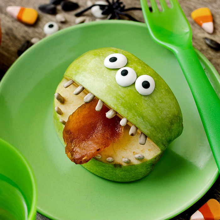 3 Eyed monster mouth snack.