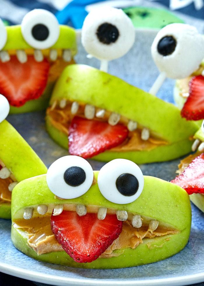 Green apple monster mouths