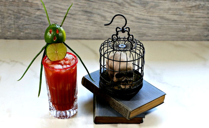 Halloween bloody Mary cocktail