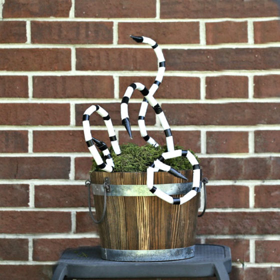 Beetlejuice snake DIY project