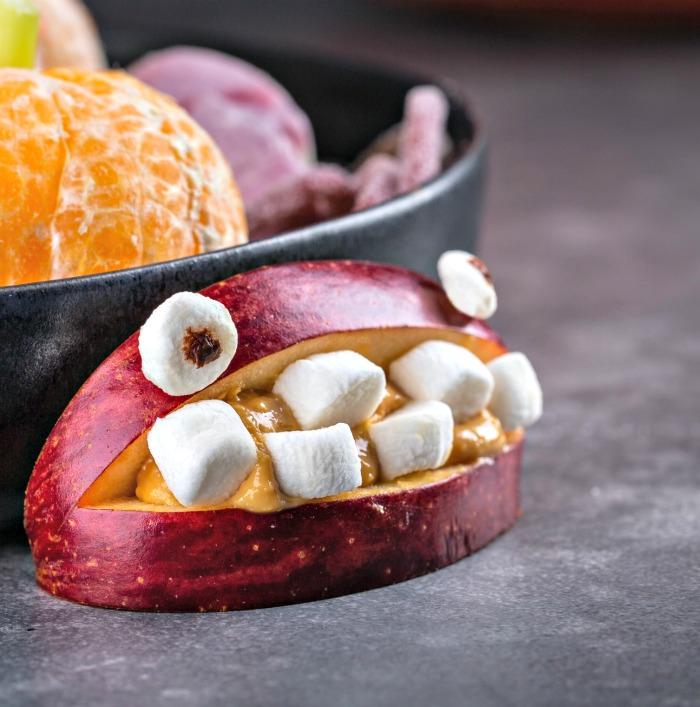 Marshmallow mouth apple snacks.