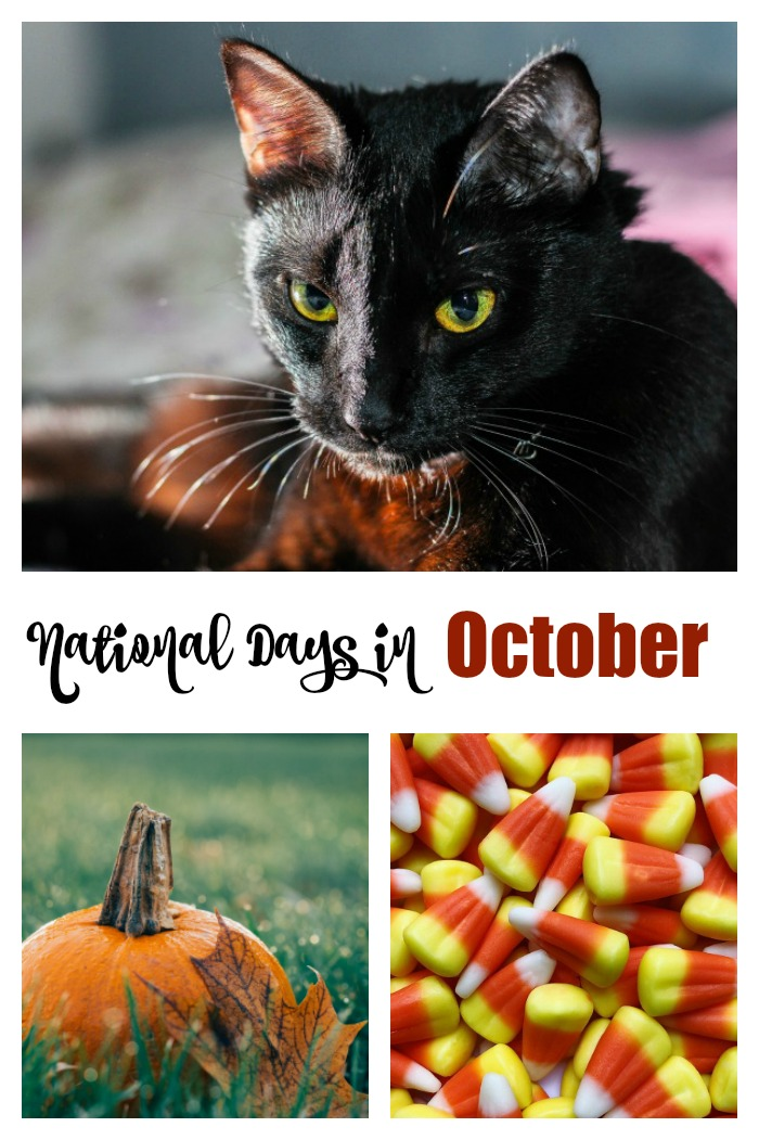 Check out the list of National Days in October.