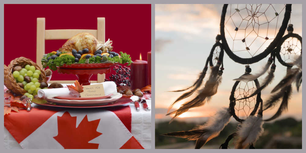 Canadian Thanksgiving and Native American Dreamcatcher.