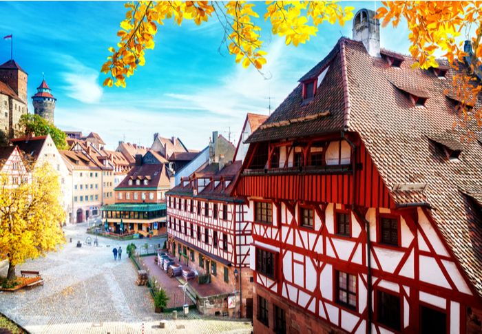 A photo of Nuremberg, Germany, the gingerbread capital of the world.