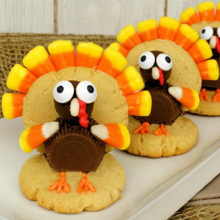 Cookie Turkeys for Thanksgiving
