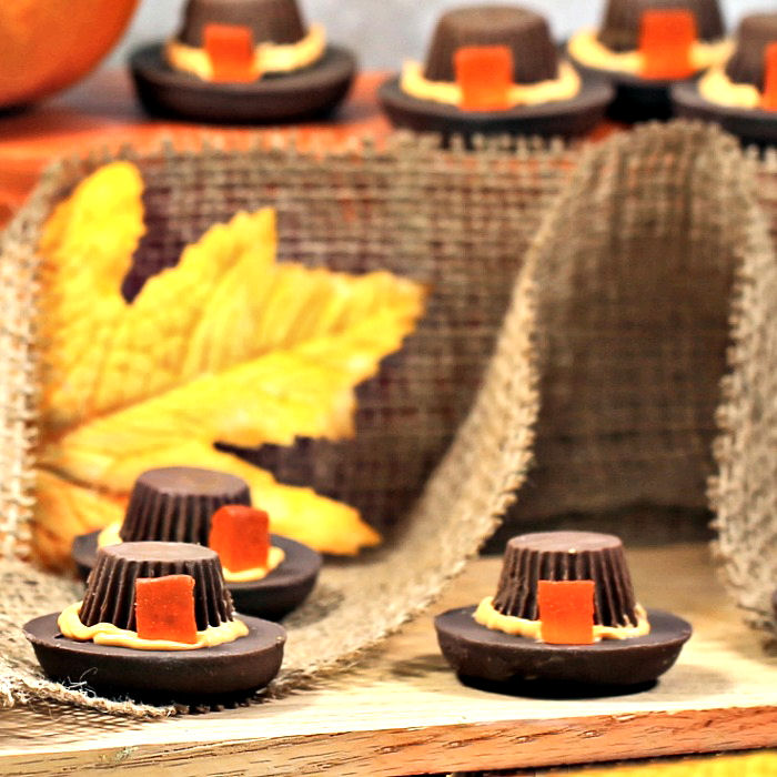 Pilgrim Hat Cookies - Easy No Bake Thanksgiving Treats for Kids