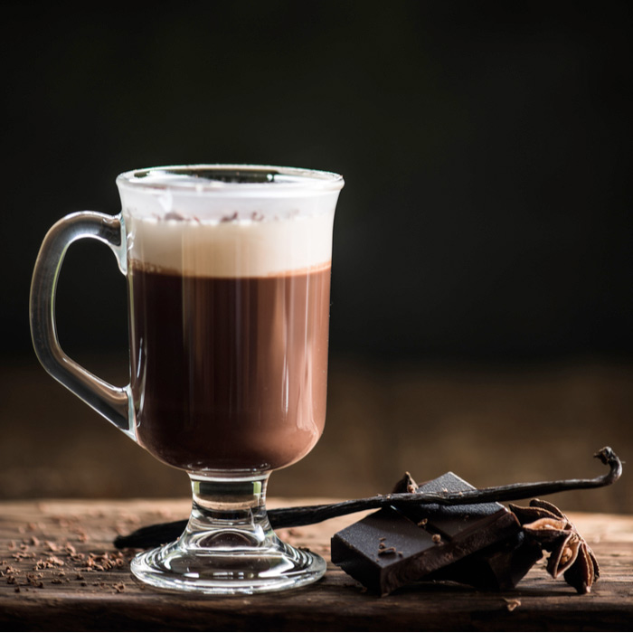 A hot mug of Irish coffee to celebrate the origin of Irish coffee.