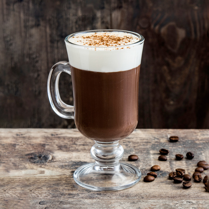 A mug of Irish coffee for National Irish Coffee Day.