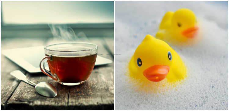 Rubber Ducky Day and Cup of Tea Day are both celebrated in January