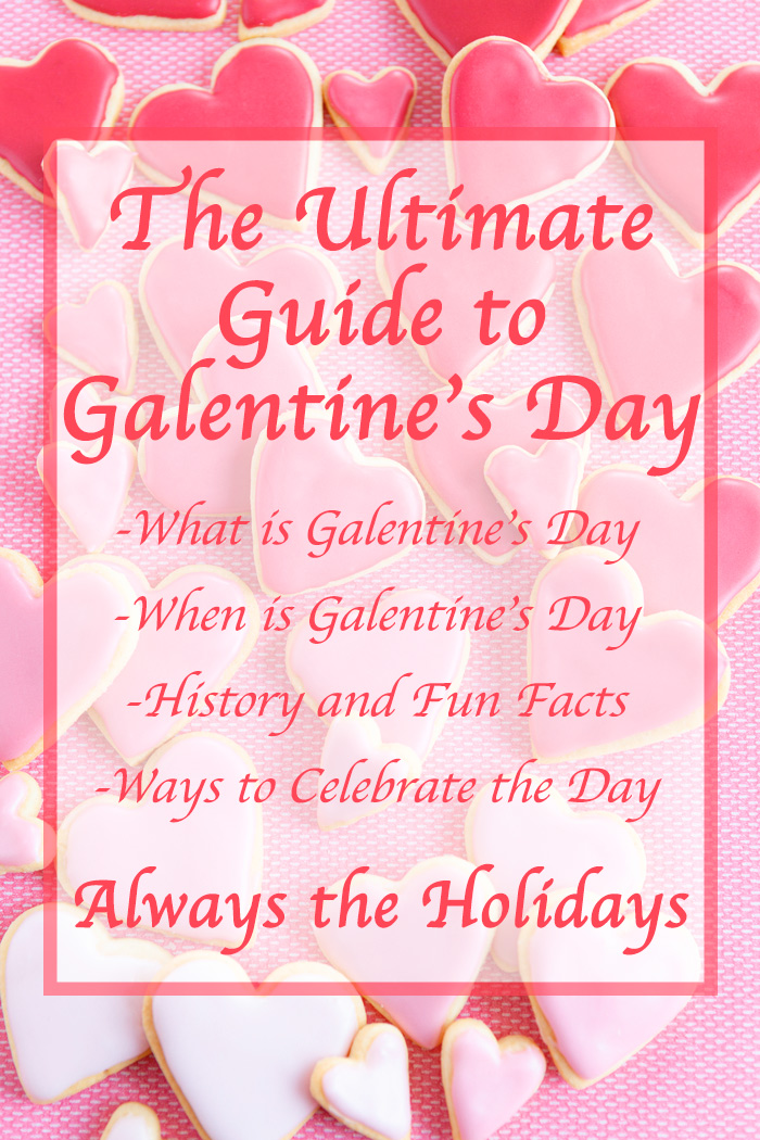 "A pink monochromatic background with a text overlay reading ""The Ultimate Guide to Galentine's Day, What is Galentine's Day, when is Galentine's Day, history and fun facts, and ways to celebrate the day""."